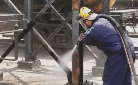 When it comes to industrial or commercial sandblasting, we can do it all. Any exterior or interior of any building or structure and we make sure to pick the right abrasives for the job.